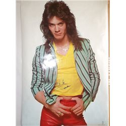 Eddie Van Halen Signed Vintage 80s 24x36 Poster