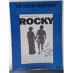 "Burgess Meredith Signed ""Rocky"" Original Sheet Music"