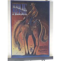 Willie Nelson Signed 11x17 Concert Poster