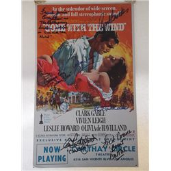 """""""Gone With the Wind"""" Vintage 1960s Poster Signed by 10"""