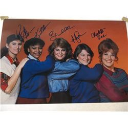 """The Cast of """"The Facts of Life"""" Signed 11x17 Photo"""