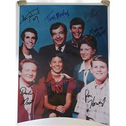 """The Cast of """"Happy Days"""" Signed 11x14 Photo"""