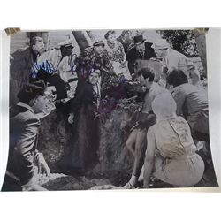"""Mickey Rooney, Peter Falk, Jonathan Winters """"It's a Mad, Mad, Mad, Mad World"""" Signed 11x14 Photo"""
