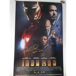 "Robert Downey, Jr. ""Iron Man"" Signed 11x17 Premiere Poster"