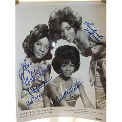 Martha and the Vandellas Signed 11x14 Photo