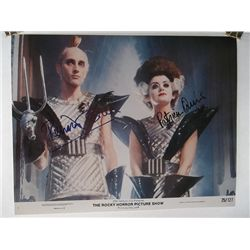 """Richard O'Brien, Patricia Quinn """"The Rocky Horror Picture Show"""" Signed 11x14 Lobby Card"""