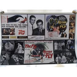 """Brett Halsey, David Hedison """"The Fly"""" and """"Return of the Fly"""" Signed 11x17 Photo"""