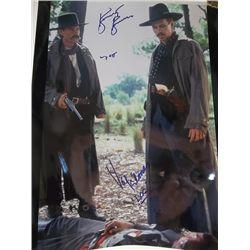 "Kurt Russell, Val Kilmer ""Tombstone"" Signed 11x14 Photo"
