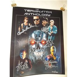 """The Cast of """"Terminator"""" Signed Limited Edition 11x14 Print"""