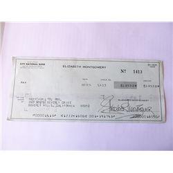 Elizabeth Montgomery Signed Bank Check