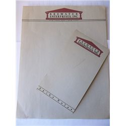 """""""Brewster's Millions"""" Prop Stationary and Memo Paper"""
