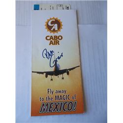"""""""Jackie Brown"""" Prop Cabo Airlines Ticket Signed by Pam Grier"""