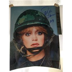 """Goldie Hawn """"Private Benjamin"""" Prop Name Strip and Signed 11x14 Photo"""