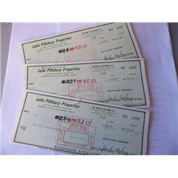 "Jack Haley ""The Wizard of Oz"" Set of Three Vintage Bank Checks"