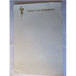 Elvis Presley Owned Embossed TCB Stationary Sheet
