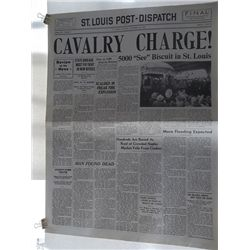 """Seabiscuit"" Set of Two Screen Used Prop Newspapers"