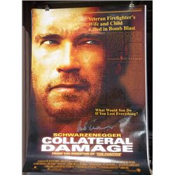 "Arnold Schwarzenegger ""Collateral Damage"" Signed Recalled One Sheet Poster"