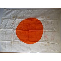 """Rising Sun"" 100% Silk Japanese WWII Flag with Blood Stains"