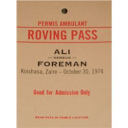 Will Smith Ali Prop Backstage Access Pass