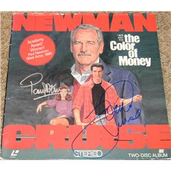 Color of Money Laser Disc Sleeve Signed by Paul Newman and Tom Cruise