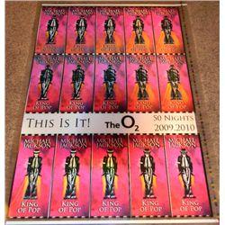 Michael Jackson This is It AIG Original Lenticular Ticket Sheet