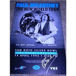 Original 1993 Paul McCartney Signed New World Tour Concert Poster