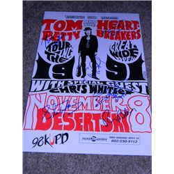 Original 1991 Tom Petty and the Heartbreakers Signed Touring the Great Wide Open Tour Concert Poster
