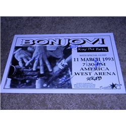 Original 1993 Bon Jovi Band Signed Concert Poster