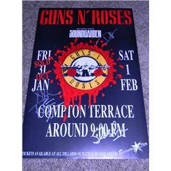 Original 1992 Guns N' Roses Signed Concert Poster