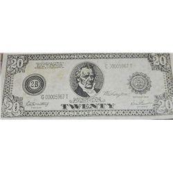 Titanic Prop Twenty Dollar Bill