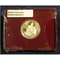 2. 1982 S Silver Proof George Washington Commemorative Half Dollar in original box of issue.