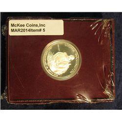 5. 1982 S Silver Proof George Washington Commemorative Half Dollar in original box of issue.