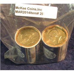 26. 2008 P & D U.S. Mint wrapped rolls of Gem BU Kennedy Half Dollars. Original as issued.