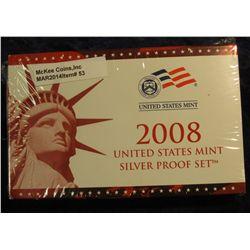 53. 2008 Silver U.S. Proof Set. Original as issued. CDN Bid is $50.00.