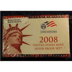 54. 2008 Silver U.S. Proof Set. Original as issued. CDN Bid is $50.00.