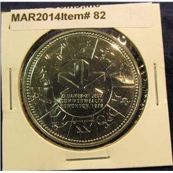 82. 1871-1971 British Columbia, Canada Silver Prooflike Dollar. In original Royal Canadian Mint felt