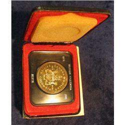 85. 1871-1971 British Columbia, Canada Silver Prooflike Dollar. In original Royal Canadian Mint felt
