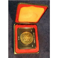 86. 1871-1971 British Columbia, Canada Silver Prooflike Dollar. In original Royal Canadian Mint felt