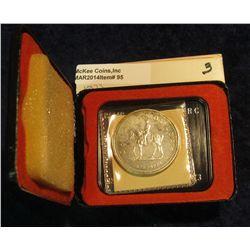 "95. 1873-1973 ""Mounted Police"" Canada Silver Prooflike Dollar. In original Royal Canadian Mint felt-"