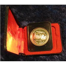142. 1874-1974 Winnipeg, Canada Silver Prooflike Dollar. In original Royal Canadian Mint felt-lined