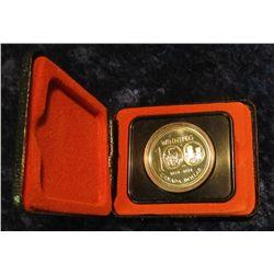 143. 1874-1974 Winnipeg, Canada Silver Prooflike Dollar. In original Royal Canadian Mint felt-lined