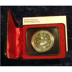 153. 1978 XI Commonwealth Edmonton Games Canada Silver Prooflike Dollar. In original Royal Canadian