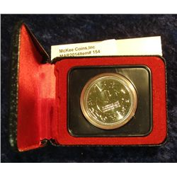 154. 1978 XI Commonwealth Edmonton Games Canada Silver Prooflike Dollar. In original Royal Canadian