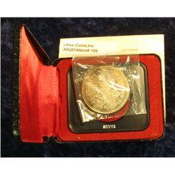 156. 1871-1971 British Columbia, Canada Silver Prooflike Dollar. In original Royal Canadian Mint fel