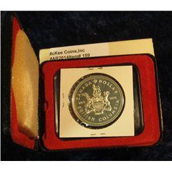 159. 1871-1971 British Columbia, Canada Silver Prooflike Dollar. In original Royal Canadian Mint fel
