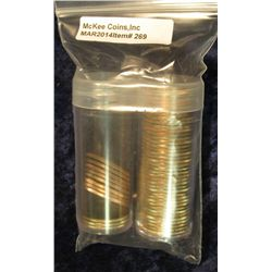 269. Complete Fifty-Piece Set of Gem BU Statehood Quarters in Plastic Tubes. All Philadelphia Mint I