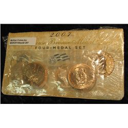 297. 2007 First Spouse Bronze Medal Set:  This four-medal set includes one each of the  1-5/16-inch