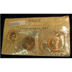 300. 2007 First Spouse Bronze Medal Set:  This four-medal set includes one each of the  1-5/16-inch
