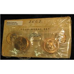 302. 2007 First Spouse Bronze Medal Set:  This four-medal set includes one each of the  1-5/16-inch