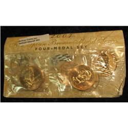 303. 2007 First Spouse Bronze Medal Set:  This four-medal set includes one each of the  1-5/16-inch